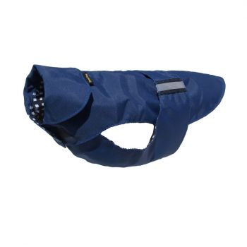 Dog coat water-resistant navy blue H63